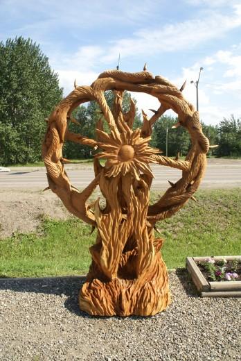 Chainsaw carvings district of chetwynd
